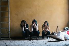 Elena Schmerberg, Susann Becker and Elisa Lindenberg.//Photography by Katja Oortman